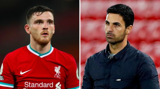 'He's turned the club around' - Andy Robertson praises Mikel Arteta and Arsenal signings after Liverpool win