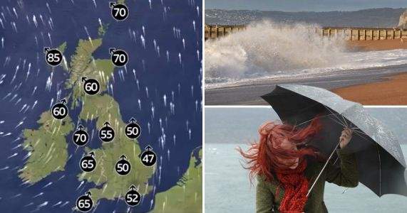 Storm Brendan set to batter Britain with 80mph winds