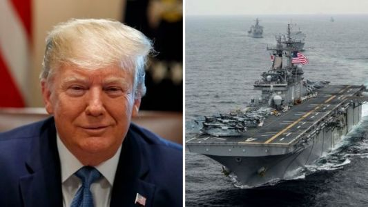 Donald Trump says US warship shot down 'hostile' Iranian drone