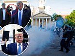 Hope Hicks is blamed for peaceful protesters being teargassed for Donald Trump's bible-waving show
