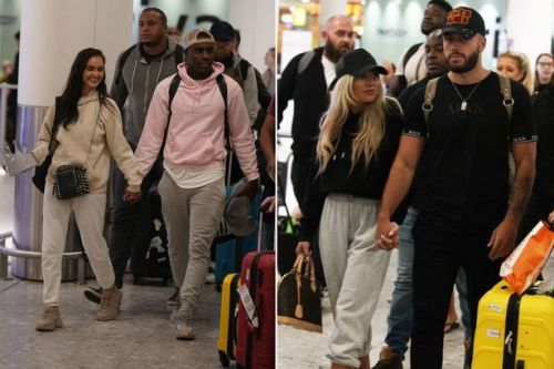 Love Island stars touch down in UK after emotional final that remembered Caroline Flack