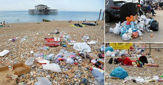 Rubbish piles up on beaches as sunseekers ignore pleas to take litter home