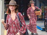 Nova star Kate Ritchie, 42, stocks up on boxes of booze on romantic Byron Bay holiday