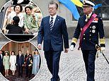 South Korean president Moon-Jae and his wife meet the Swedish royal family in Stockholm