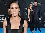 Olivia Palermo cuts uber chic look in black with husband Johannes Huebl at Whitney Art Party in NYC