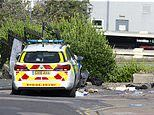 Sussex Police car crashes into pedestrian then a wall in Brighton leaving man with leg injuries