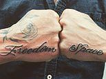 Laurence Fox shows off new 'Freedom' and 'Space' tattoos on his hands