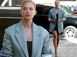 Alesha Dixon displays post-baby body as she steps out in LA for America's Got Talent filming