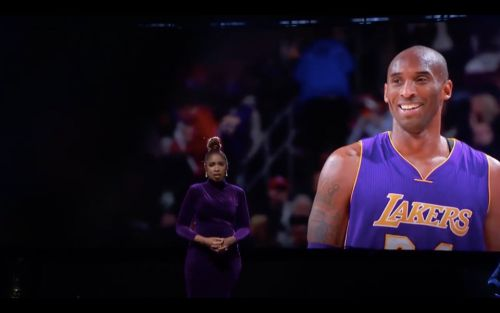 Jennifer Hudson delivers a powerful performance to honor Kobe Bryant during NBA All-Star Game