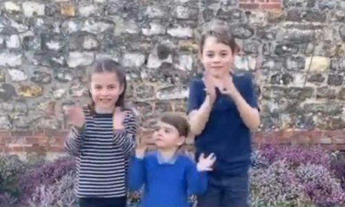 George, Charlotte and Louis join nation as they clap for NHS workers