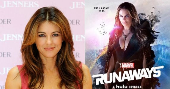 Liz Hurley smolders on Marvel's Runaways poster in outfit only she could pull off