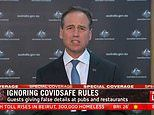 Greg Hunt issues passionate plea for people to STOP lying on their coronavirus contact tracing forms