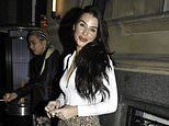 Ex On The Beach star Jenny Thompson teases her taut midriff in white crop-top on night out