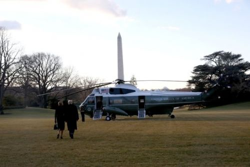 Donald Trump Leaves The White House As His Presidency Ends