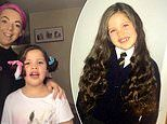 Mother shows off impressive hair hack by curling her daughters long locks with a pair of SOCKS