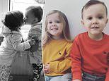 Heartbreaking photograph of twins, 3, kissing as one is diagnosed with rare leukaemia