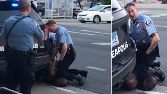 Black man dies after cop kneels on his neck and ignores his pleas that he couldn't breathe