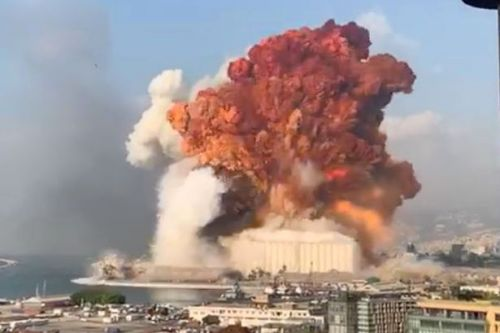Video shows huge mushroom cloud erupt as huge explosion kills at least 10