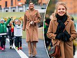 Princess Estelle wears coat like her mother Crown Princess Victoria's