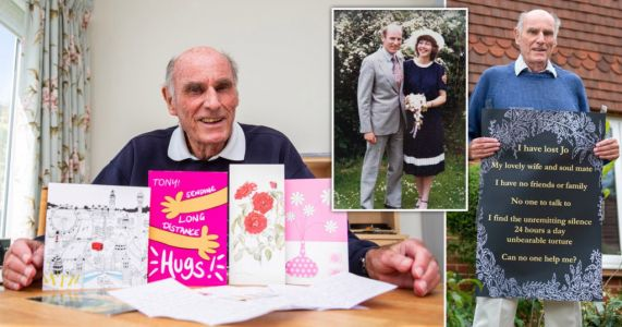 Pensioner brought to tears by overwhelming response to his plea for friends