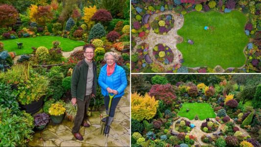 Couple spends 37 years and £15,000 transforming beautiful garden that now attracts thousands of tourists