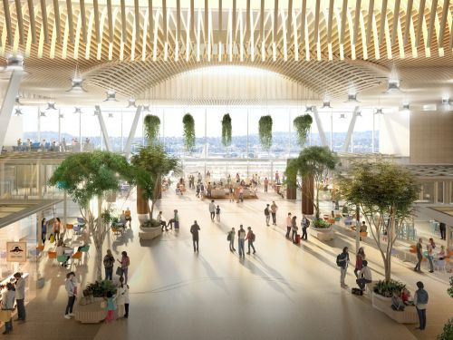 The design of the new Portland International Airport main terminal has been unveiled -see what $1.5 billion project will look like