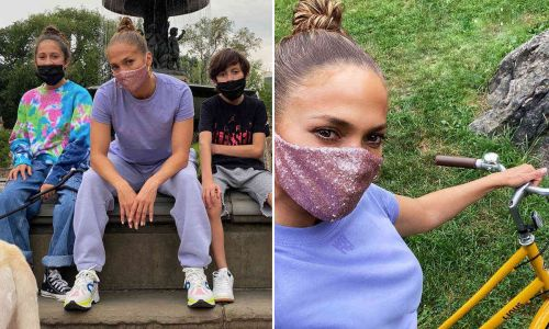 Jennifer Lopez just wore the most JLo face mask ever - and we know where you can buy it