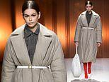 Kaia Gerber and Bella Hadid on Tod's catwalk during Milan Fashion Week