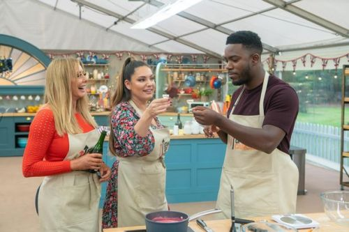 Kelly Brook jokes Carol Vorderman sabotaged her on GBBO as they got drunk