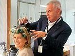 Eamonn Holmes attempts to style Ruth Langsford's hair ahead of filming for This Morning