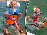 Parents spark controversy with video of their six-month-old son water skiing