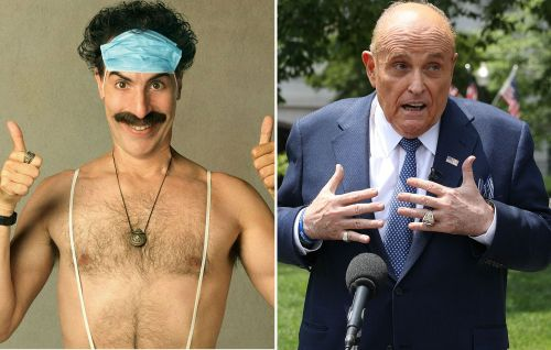 "Borat defends Rudy Giuliani over controversial scene: ""It was innocent sexy time"""