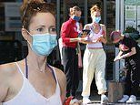 Leslie Mann and daughter Iris Apatow go for a weekday shopping trip to Whole Foods in Malibu