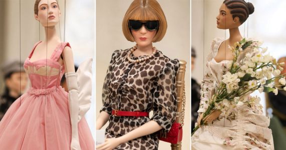 Moschino unveils whole fashion show with miniature marionettes - including tiny Anna Wintour