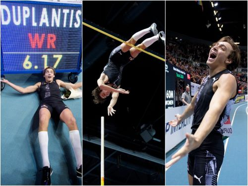 Athletics-Sweden's Duplantis soars 6.17m to break pole vault world record