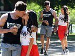 Roxanne Pallett passionately kisses husband Jason Carrion during romantic stroll in a New York park