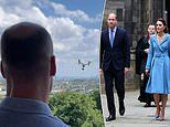 Prince William and Kate Middleton share enigmatic video of the Duke looking out at a hovering drone