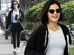 Lucy Hale is every inch the LA girl with green juice and workout gear after returning from Milan