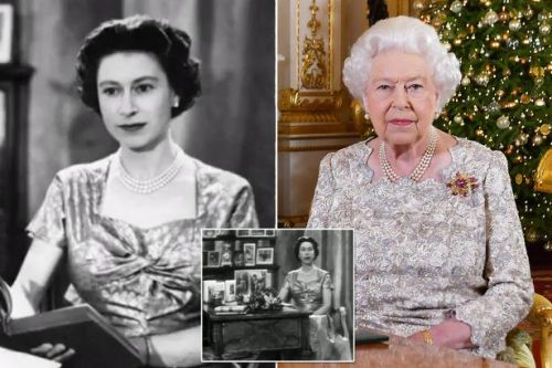 Royal fans marvel at 1957 footage of Queen giving first televised Christmas speech