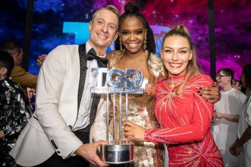 """Michael and Jowita win The Greatest Dancer with """"queen of dance"""" Oti Mabuse"""