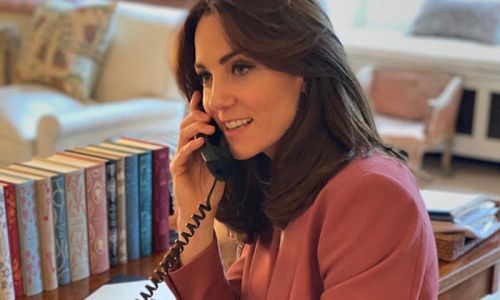 Duchess Kate shows off her incredible book collection in rare picture taken inside her Kensington Palace home