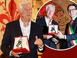 Richard Gere receives key to the city of Florence. but his honour is met with protests