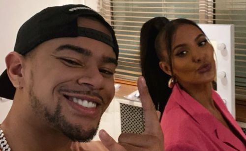 Wes Nelson cosies up to Maya Jama for a selfie and fans joke it'll have Chunkz 'bringing out a diss track'
