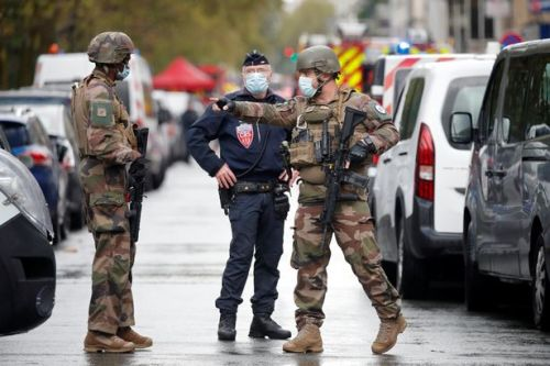 Charlie Hebdo: Four stabbed near magazine's former office in Paris