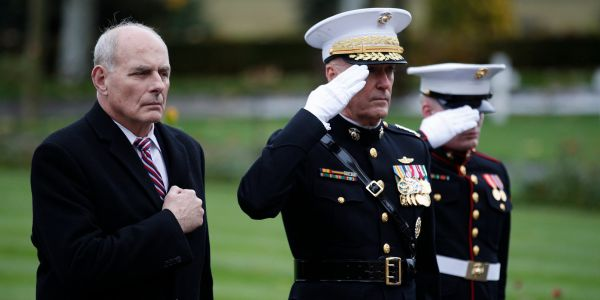 'I could've f--- gone!': Trump blamed John Kelly for his own decision to bail on a WWI memorial visit, according to a new book