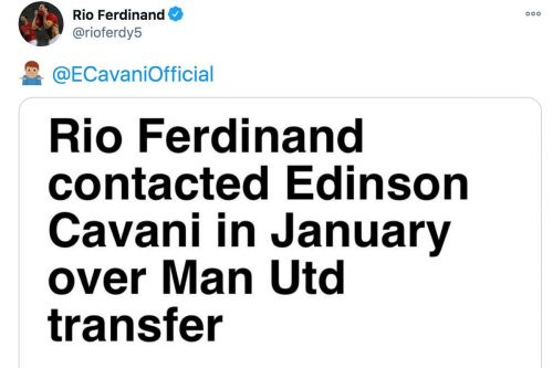 Rio Ferdinand takes credit for Edinson Cavani after Man United's 3-2 win at Southampton