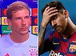 Leon Goretska says it was fun to see Messi and Barcelona lose 8-2 to Bayern Munich