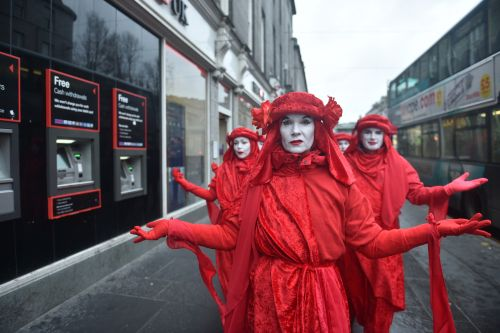 VIDEO: Red Rebel Brigade take to streets of Aberdeen after demonstrators descend on Shell