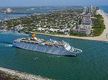 Florida cruise line is sued by crew member who says staff are being 'held hostage' onboard