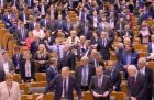 Watch: MEPs sing Auld Lang Syne as Brexit deal passes